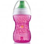 Learn To Drink Cup Copo de Treinamento com Bocal Rigido Rosa 8+ Meses com 270ml