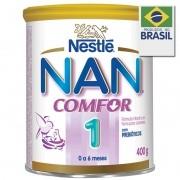 Leite Nan Comfor 1 Fórmula Infantil Prebióticos 400g
