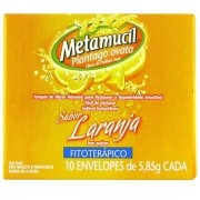Metamucil Sabor Laranja com 10 Envelopes