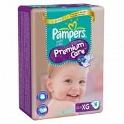 Pampers Premium Care Pacotao Tamanho XG com 16 fraldas
