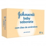 Sabonete Johnsons Baby Hora com Oleo de Amendoas com 80g