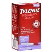 Tylenol Bebe ( Ate 3 anos de Idade ) Paracetamol 100mg\ml Sabor Frutas com 15ml