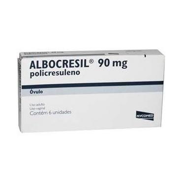 Albocresil Policresuleno 90mg Ovulo Uso Vagina com 6 Unidades