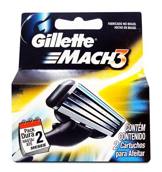 Carga Gillette Mach 3 com 2 Unidades