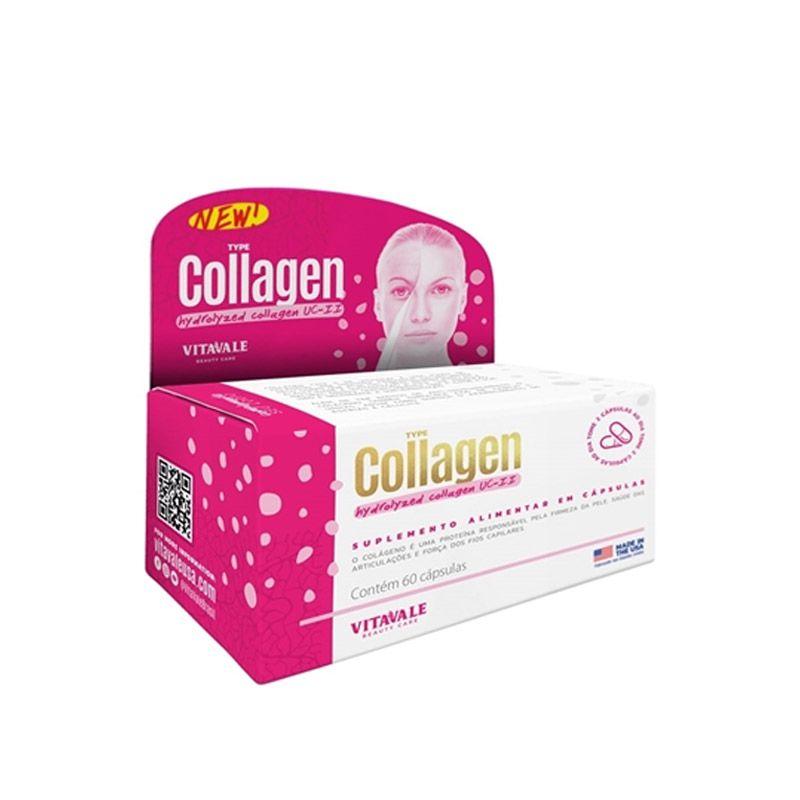 Colágeno Hidrolisado Vitavale com 60 Cápsulas
