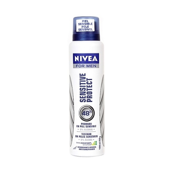 Desodorante Aerosol Antitranspirante Nivea For Men Sensitive Protect com 150ml