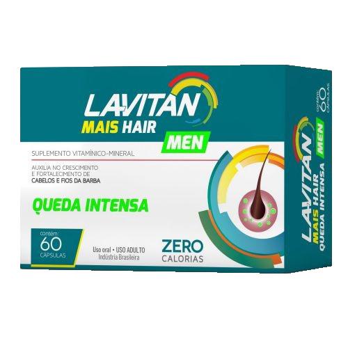 Lavitan Mais Hair Men Queda Intensa com 60 Cápsulas