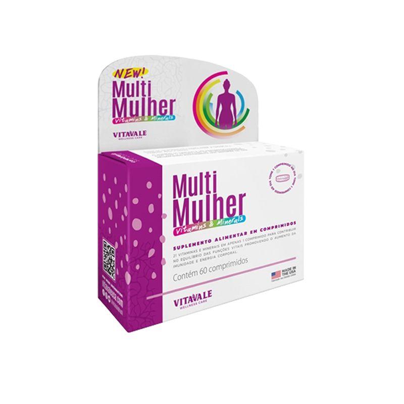 Multi Mulher Vitaminas e Minerais com 60 Comprimidos