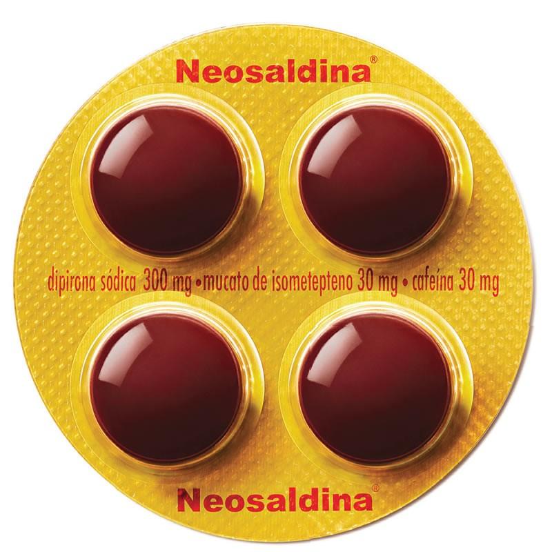 Neosaldina Dragea com 4 Comprimidos