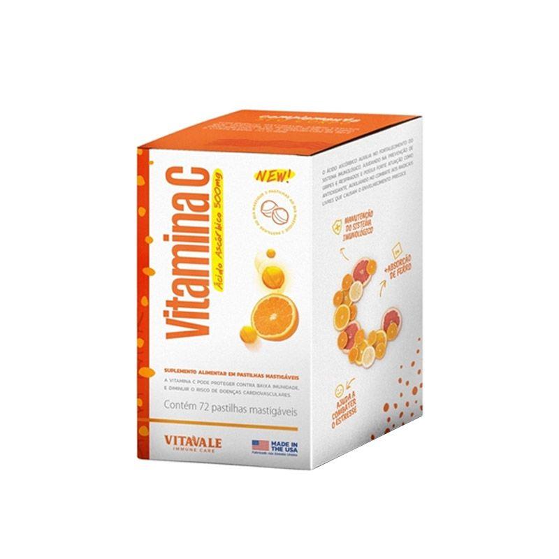 Vitamina C 500mg com 72 Pastilhas Mastigáveis