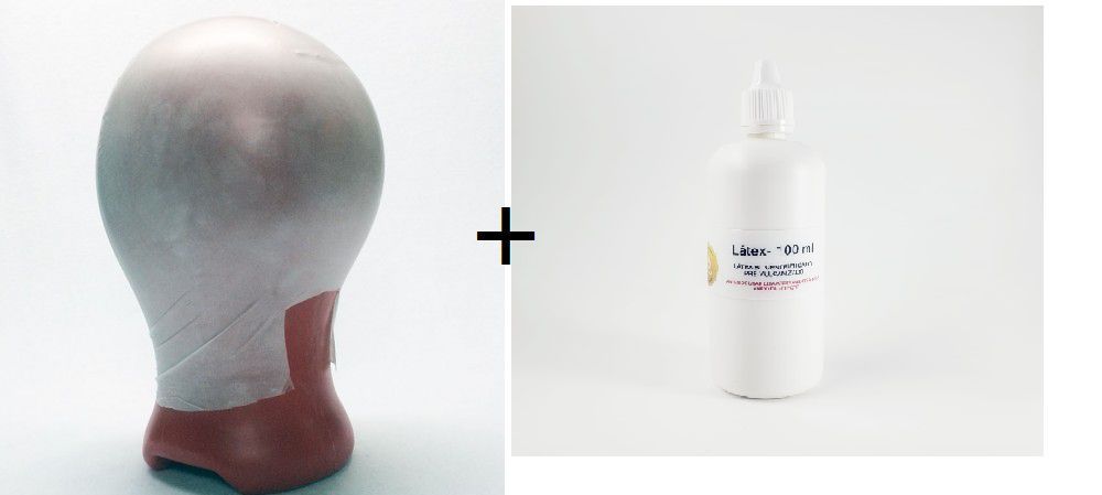 Careca falsa de látex + látex 100 ml
