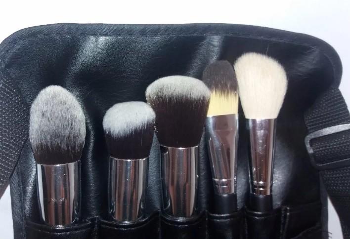 Cinto Para Pinceis maquiagem + 5 Pinceis maquiagem