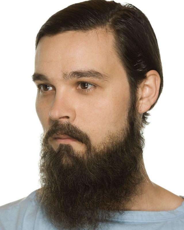 Cabelo crepe de lã para bigodes falsos e Pêlos faciais grisalho c/ castanho