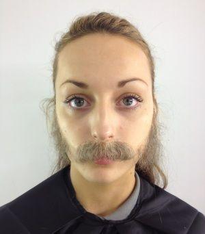 Cabelo crepe de lã para bigodes falsos e Pêlos faciais Castanho médio