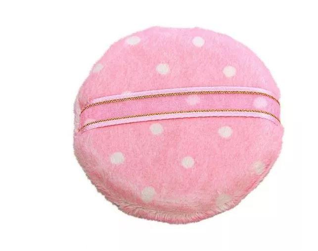 Esponja para maquiagem de veludo rosa- Santa Clara