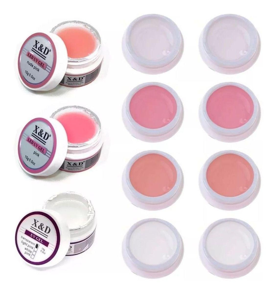 Gel Led UV  X&D 15g acrigel  nude Pink