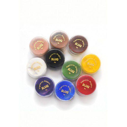 Kit 5 cores de Pigmentos magico slug 10 gr