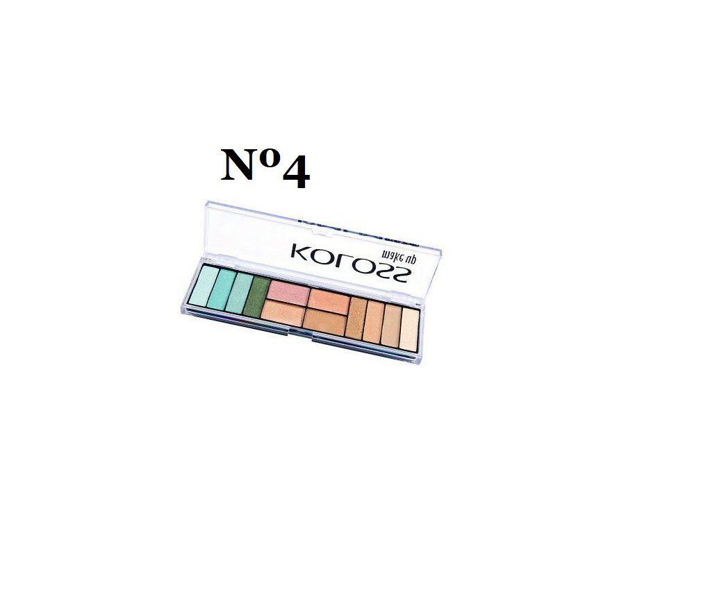 Kit 6 paletas de sombras Koloss