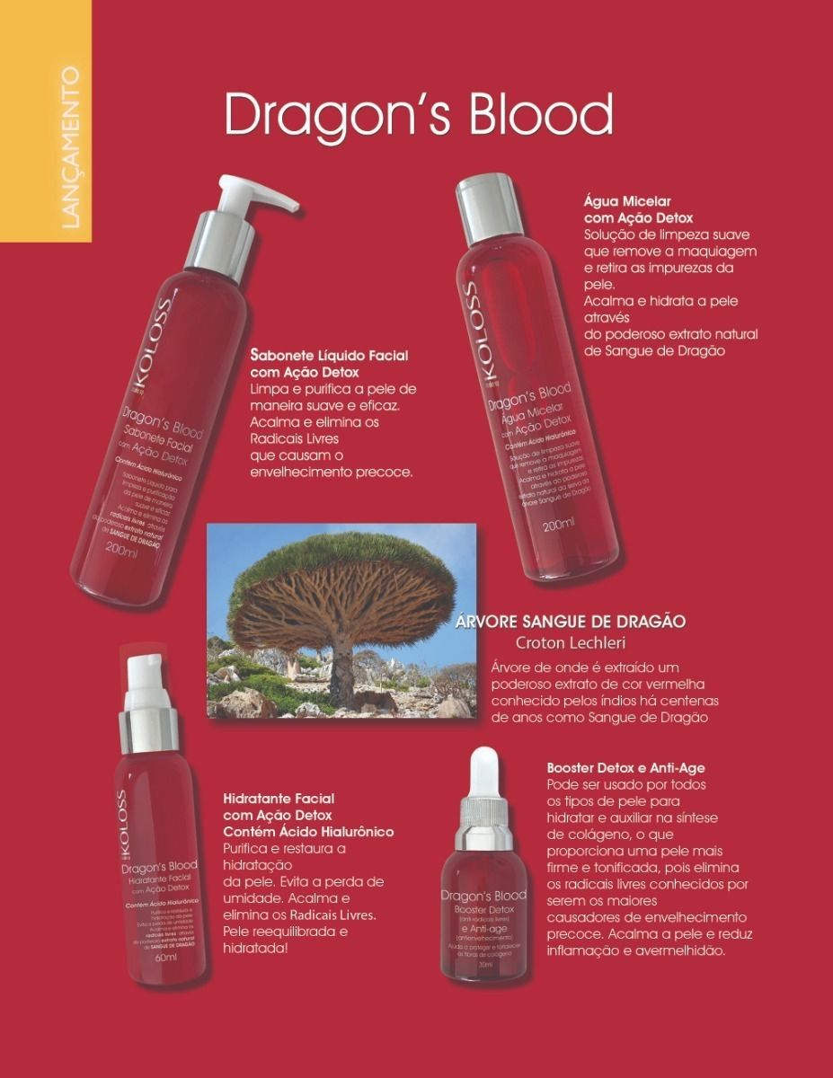 Tratamento Completo Dragon's Blood- Koloss (ação Detox) Com 4 Itens
