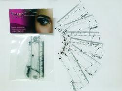 kit molde para sobrancelha Henna visage c/ 6