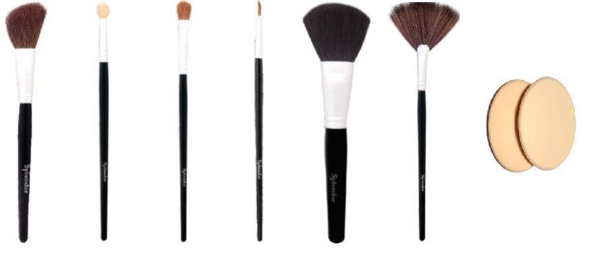 Jogo de pinceis diva maquiagem ( 6 un) Splendor + esponja