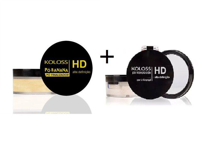 Kit Pó HD Translúcido + Pó Banana  Koloss 12,0 gr