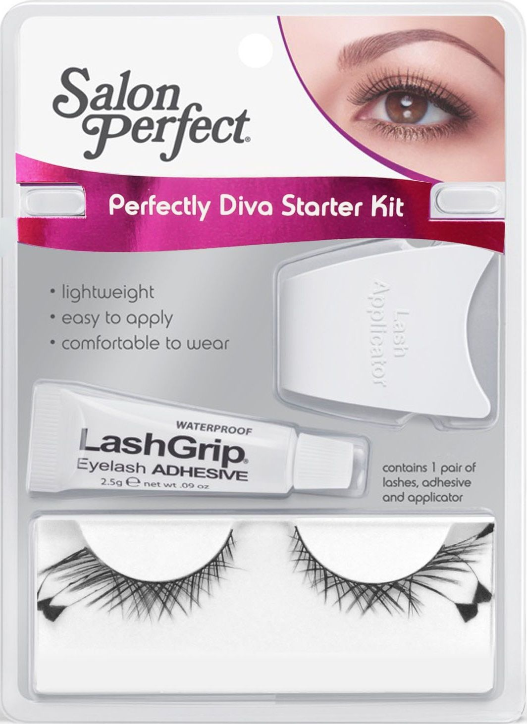 Kit Salon Perfect Diva Starter 47666 - Cilios + cola