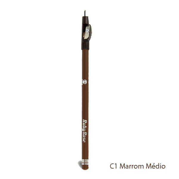 Lápis delineador de sobrancelha marrom médio Ruby Rose