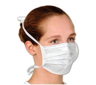 Mascara descartável TNT  dupla com elástico 1 unidade