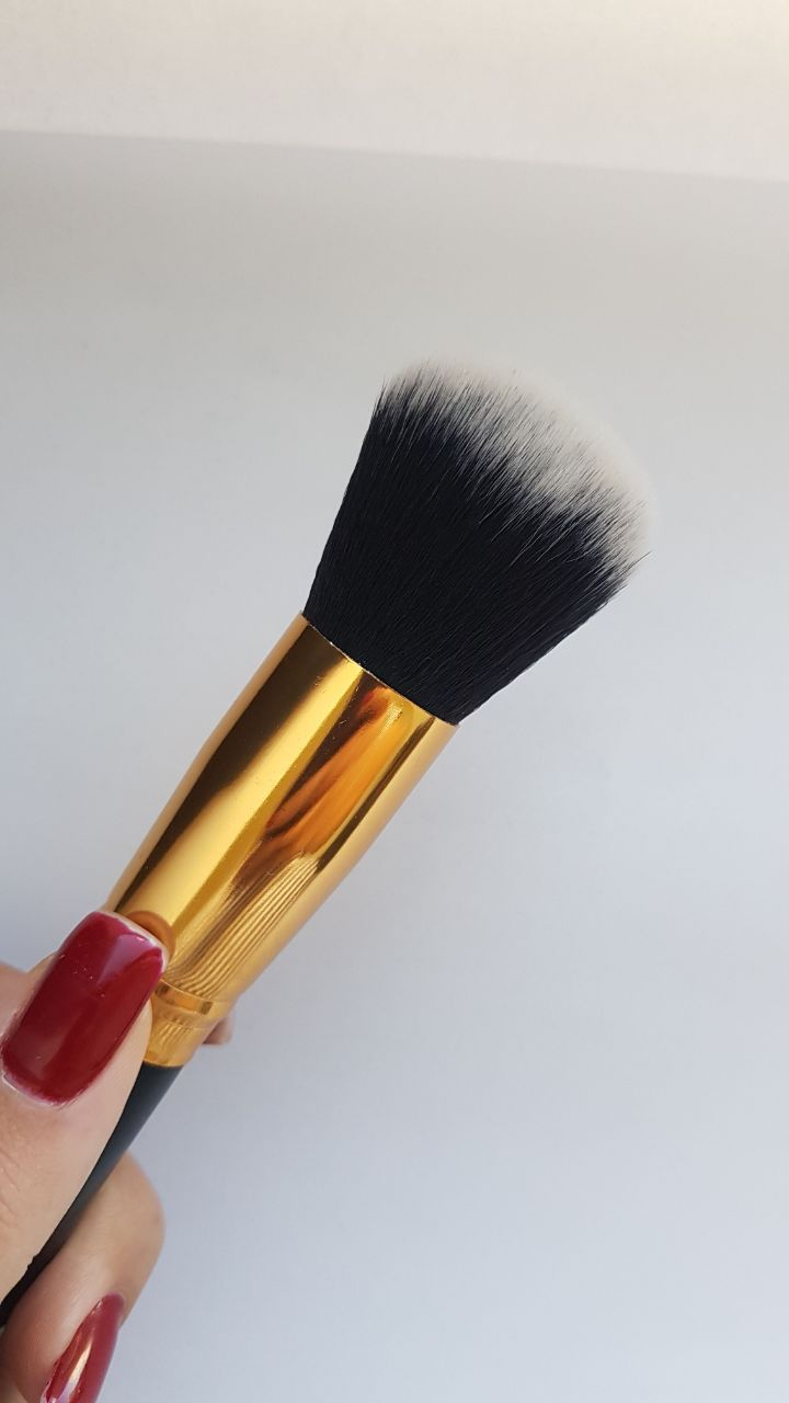 Pincel Hd Kabuki Topo Arredondado