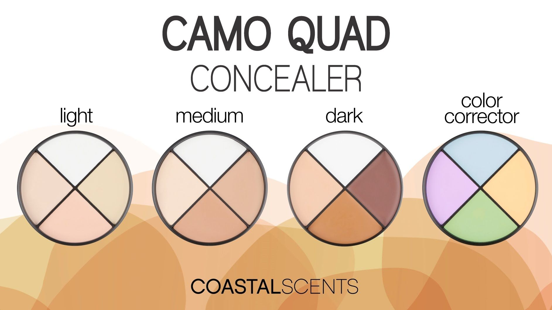 Quarteto de corretivo claro coastal scents