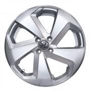 01 Jogo com 4 rodas Zunky ZK-650 Golf GTI aro 15 4x100 Prata Tala 6 ET 38