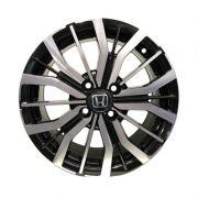 Jogo 4 Rodas BRW-1350 Honda Citi aro 15 4 x 100 diamante preto tala 6