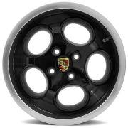 Jogo 4 rodas Engemec EW-928 Porsche aro15 4x100 tala 6 Preto ET38