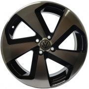 Jogo 4 Rodas Zunky ZK-650 Golf GTI Aro 14 4 x 100 Preto Diamante Tala 6 ET 35