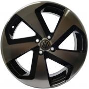 Jogo 4 rodas Zunky ZK-650 Golf GTI aro 14 4x100 Diamante Preto tala 6 ET 35