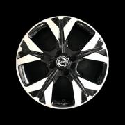 Jogo 4 Rodas Zunky ZK-850 Onix 2020 Aro 15 4 x 100 Preto Diamante Tala 6 ET 40