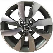 Jogo com 4 rodas Zunky ZK-640 Gol G7 aro 15 4x100 diamante grafite tala 6 ET 38