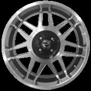 Jogo com 4 rodas Zunky ZK-700 Gol GT aro 15 4x100 tala 6 diamante preto ET35