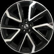 Jogo com 4 rodas Zunky ZK-880 Corolla 2021 aro 20 5x113 Diamante Preto tala 7,5 ET42