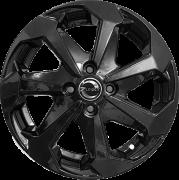 Jogo com 4 rodas Zunky ZK-890 Jetta aro 15 4x100 tala 6 Black ET35