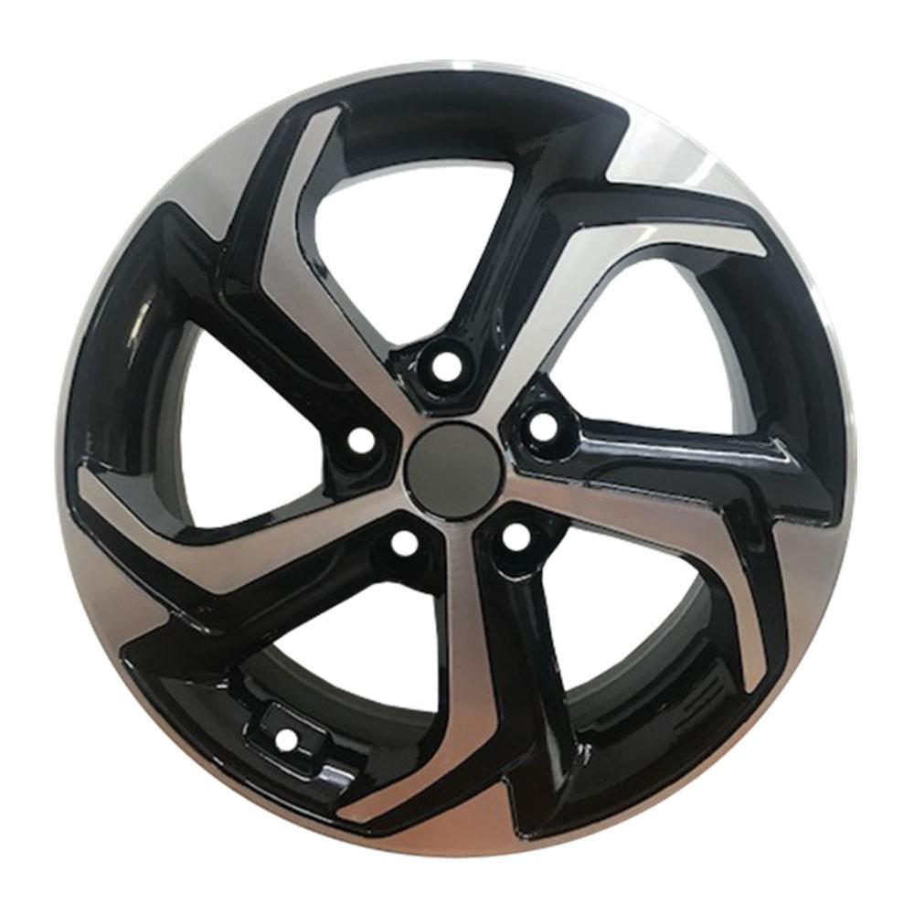 Jogo com 4 rodas Zunky ZK-825 Creta Sport aro 16 5 x 114 diamante preto tala 6 ET 40