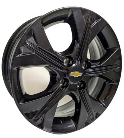 Jogo com 4 rodas Zunky ZK-850 Onix 2020 aro 14 4x99 Black tala 6 ET40