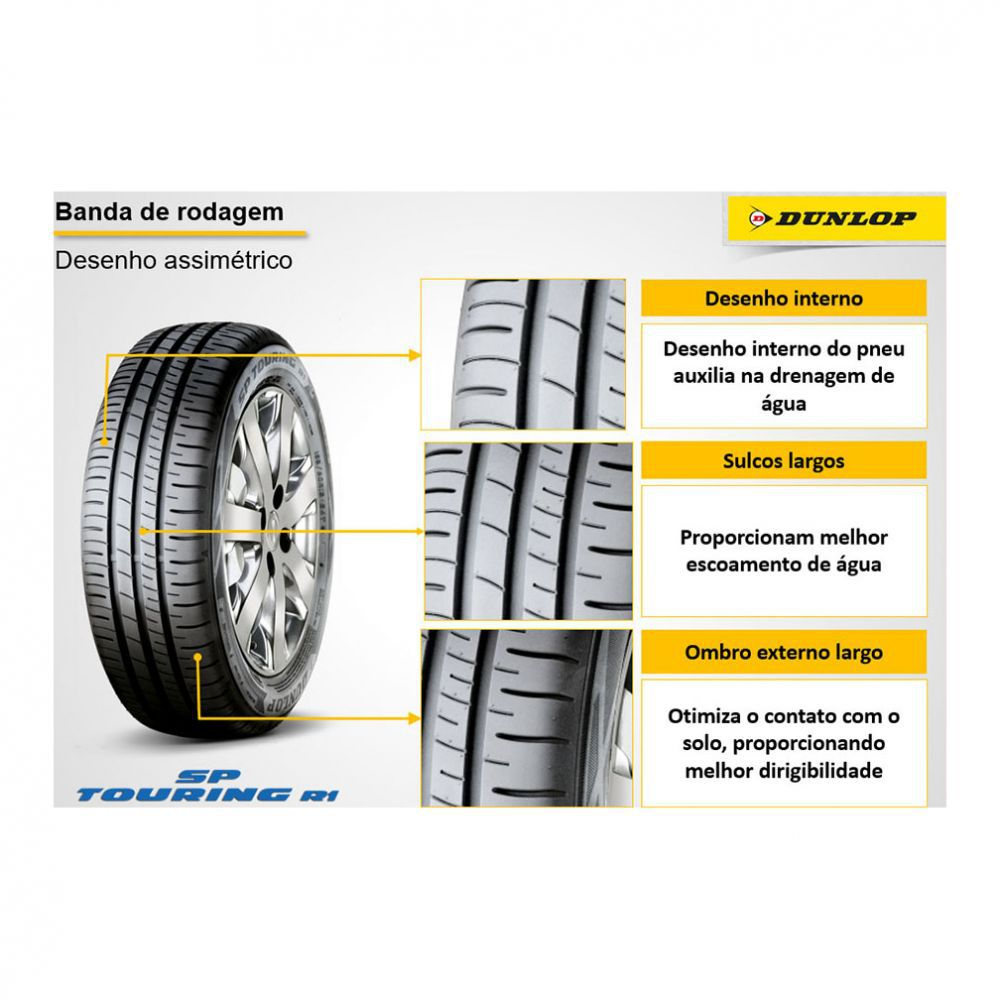 Kit 4 Pneus Dunlop Aro 14 175/70R14 SP Touring R1 88T