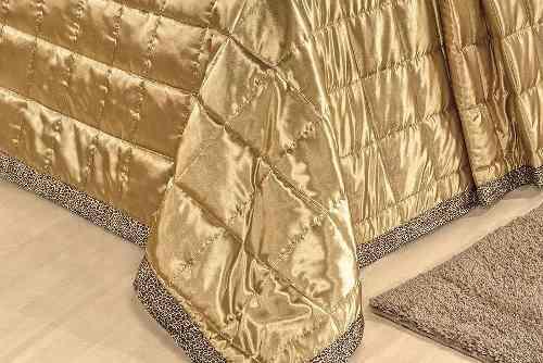 Coordenado Kit Cobre Leito + Jogo De Lençol Queen Safari - Dourado