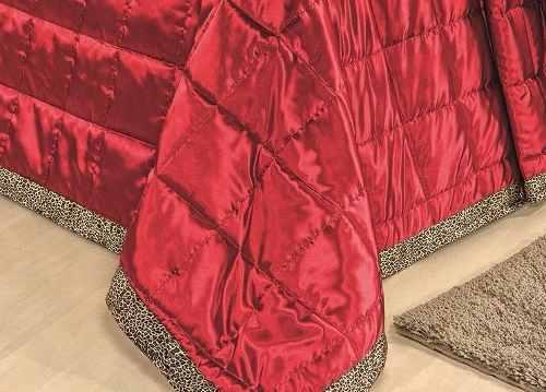 Kit Cobre Leito King Safari 09 Peças - Vermelho