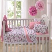47c66fd672 Edredom Para Berço Estampado Ursinho Rosa Vivaldi Baby 01 Peças - Rosa