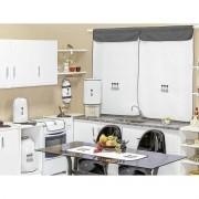 Jogo de Cozinha Bordado com Cortina Casa Bella 10 Peças - Talheres Preto