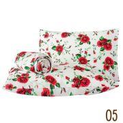 Jogo de Lençol Casal Marina Tecido Misto 03 Peças - Flores Vermelhas