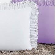 Kit Porta Travesseiro Padrão Anabelle 02 Peças - Branco